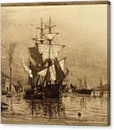 Historic Seaport Schooner Canvas Print