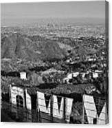 Hollywood And The Los Angeles City Skyline Canvas Print
