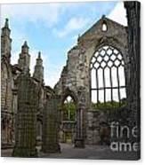 Holyrood Abbey Ruins Canvas Print