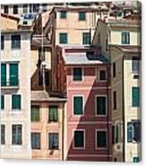 homes in Camogli Canvas Print