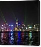 Hong Kong Harbour Laser Light Show  Canvas Print