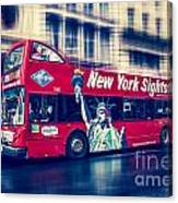 hop on hop off  through NYC Canvas Print