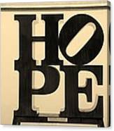 Hope In Sepia Canvas Print