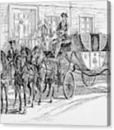 Horse-drawn Coach Canvas Print