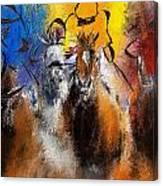 Horse Racing Abstract  Canvas Print
