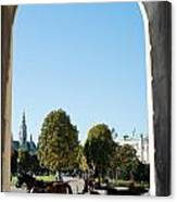 Horses And Carriage In Vienna Canvas Print