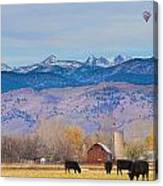 Hot Air Balloon Rocky Mountain County View Canvas Print