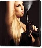 Hot Shot Woman Canvas Print