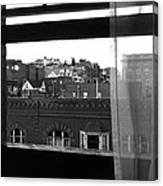 Hotel Window Butte Montana 1979 Canvas Print