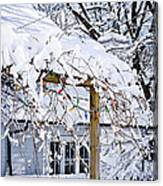 House Under Snow Canvas Print