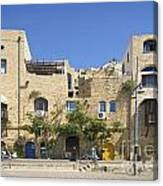 Houses In Jaffa Tel Aviv Israel Canvas Print