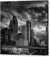 Houston At Twilight Canvas Print