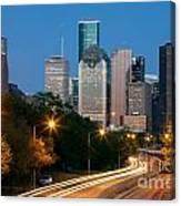Houston Skyline At Dusk Canvas Print