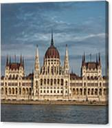 Hungarian Parliament Building Afternoon Canvas Print