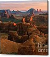 Hunts Mesa In Monument Valley Canvas Print