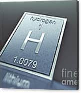 Hydrogen Chemical Element Canvas Print