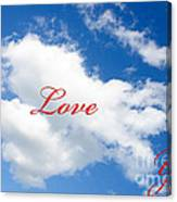 1 I Love You Heart Cloud Canvas Print