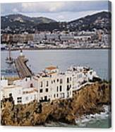 Ibiza Town Canvas Print