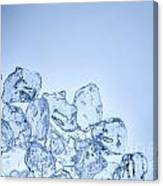 Ice Background With Copyspace Canvas Print