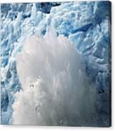 Ice Falling Off Glacier Alaska Canvas Print