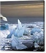 Ice In The Sea Canvas Print
