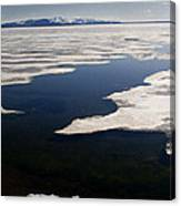 Ice On Yellowstone Lake Canvas Print
