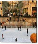 Ice Skating In New York City Canvas Print