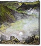 Iceland Steam Valley Canvas Print