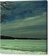 Icing On The Lake Canvas Print
