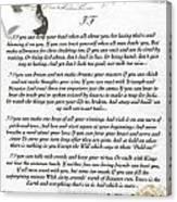 If By Rudyard Kipling Canvas Print