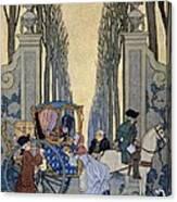 Illustration From 'les Liaisons Dangereuses'  Canvas Print