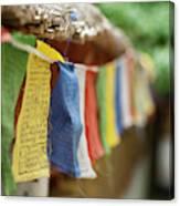 India, Ladakh, Alchi, Colorful Buddhist Canvas Print