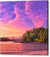 Indian Ocean Sunset Canvas Print
