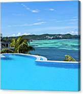 Infinity Swimming Pool Canvas Print