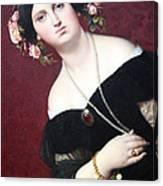 Ingres' Madame Moitessier Abstract Canvas Print
