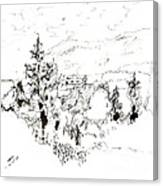 Ink Sketch Canvas Print