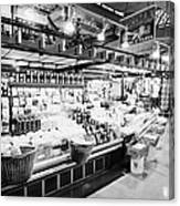 inside lonsdale quay market shopping mall north Vancouver BC Canada Canvas Print