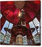 Interior Of Fresnel Lens In Umpqua Lighthouse Canvas Print