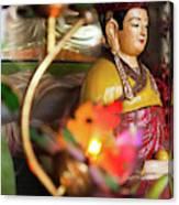 Interiors Of Vihn Trang Pagoda, My Tho Canvas Print