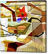 Interstate 10- Exit Out West- Where Life Begins New- Rectangle Remix Canvas Print
