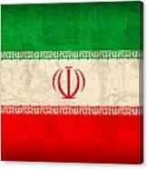 Iran Flag Vintage Distressed Finish Canvas Print