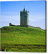 Irish Castle On Hill Canvas Print