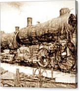 Iron Horse Boneyard Canvas Print