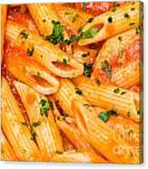 Italian Pasta - Penne All'arrabbiata Canvas Print