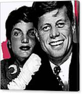 Jackie And Jack Kennedy In A Photo Booth Snap No Known Location 1953-2013 Canvas Print