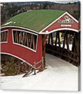 Jackson Cross Country Skiing Bridge Canvas Print