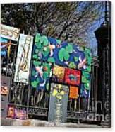Jackson Square Vendors Canvas Print