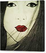 Japanese Geisha Canvas Print