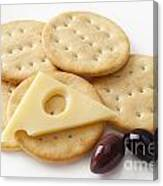 Jarlsberg Cheese And Crackers Canvas Print