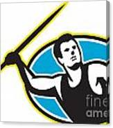 Javelin Throw Track And Field Athlete Canvas Print